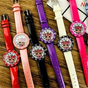Art und Weise nette hübsche Mädchen Prinzessin Stil Kinderuhren Kids Schüler Mädchen Jungen-Quarz-Leder-Armbanduhr Uhr lol