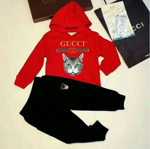 2020 Hot sale Brand Baby coat Tracksuits Spring Autumn Baby Boy Girl Cotton Full sleeved Jacket+pants 2pcs sets Boys Kid Clothing Set