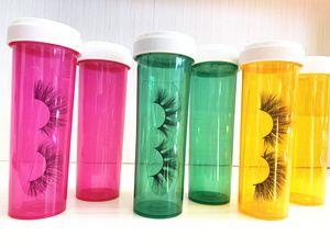 New packaging Medicine Eyelash bottle pills 3d Mink Eyelash case 240ml eyelash packaging multi-purpose bottle storage and sub-bottle