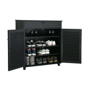 Shoe Rack Storage Organizer Cabinet Entryway Stand Table w  Drawer and 4 Shelves