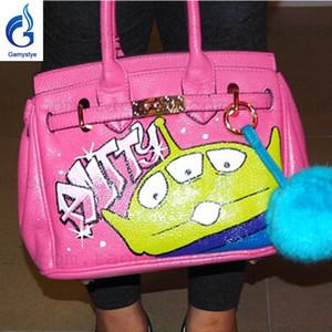 Kişisel özel SANAT BOYA ÖZEL İSİM ÇANTA tasarımcı Hamz lüks çanta çanta hakiki deri tasarımcısı çanta gerçek deri çanta handabgs