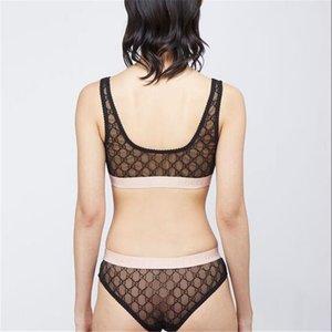 Sexy donne Bra Hollow Imposta lusso traspirante Lady Lettera mutande Estate morbido elastico ragazze due pezzi biancheria intima