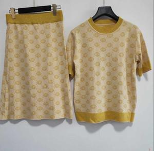 Designer Women Two Piece Dresses New Arrival Fashion Womens Brand T Shirt + Dresses Sets Luxury Two Piece Suits YF202191