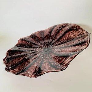 Cam Tabaklar Şeklinde Ağız Üflemeli Modern Dekoratif Cam Duvar Tabaklar Türk Murano Çiçek Dekoratif Net Cam Tabaklar Bulk