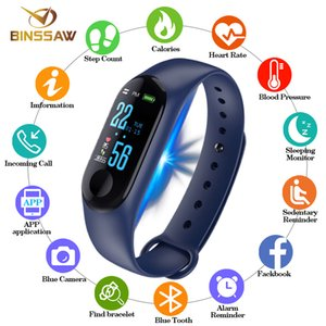 Binssaw 2019 Smart Watch Männer Frauen Sport Armband Bluetooth Uhr Kamera Herzfrequenz Blutdruck Schlaf Monitor Schrittzähler Band J190628