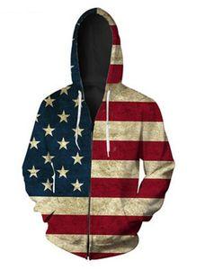 Релиз Мода Мужчины Женщина пальто куртки с длинным рукавом с Осенним Sports Flag 3D Печать Zipper Толстовка Одежда Плюс Размер RLM019