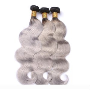 Brazilian Body Wave Bundles Virgin Silver Grey Hair Weave Ombre Grey Hair Weaves 100% Human Virgin Hair Weft For Black Women