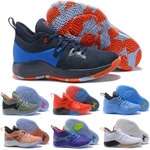 High Qaulitys Paul George 2 PG II Kids Basketball Shoes for Men Cheap PG2 2S Starry Blue Orange All White Black Sports Sneakers