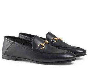 mocassins en cuir de luxe Muller femmes de créateurs de mode chaussures avec boucle sandales pour femmes Mode Princetown Avslappnad Mulets Flats S01 C04