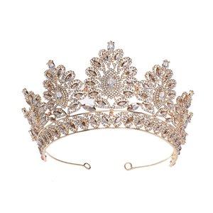 Bride Crown Kopfschmuck 2020 Prinzessin Haar-Verzierung Europäische und amerikanische Blumen-Kristall Super-Unsterbliche Ehe Schmuck Haar-Band