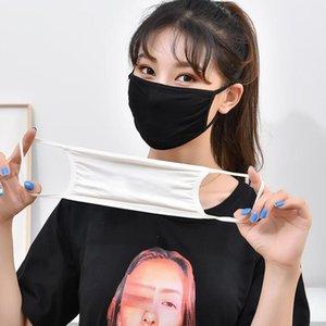 Unisex Cotton Face Mask Sunscreen Dustproof Anti Fog Black White Breathable Washable Mouth Cover Mask DDA111