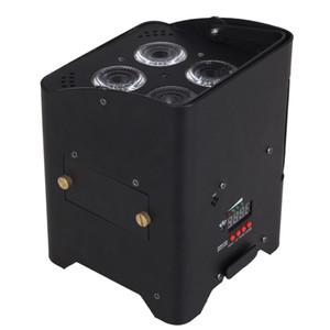 rechargeable sans fil conduit 4x18W rgbwa + uv 6in1 lumière par des piles conduit avec luminaire plat distant conduit