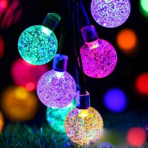 Led Solar Lamps Ball Waterproof Colorful Fairy Outdoor Solar Garden Light Christmas Party Decoration Solar String Lights