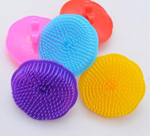 Confortable Massager Scalp Peigne douche corps Brosses en plastique Shampooing lavage cheveux Brosse de massage pour salle de bain coloré