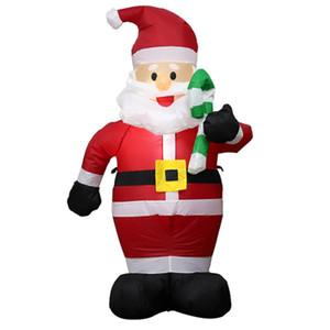 TOPATY 150 cm Açık Şişme Noel Baba LED Işık Şekil Oyuncaklar Bahçe Yard Noel Süslemeleri Yeni Yıl 2019 ABD, AB Tak