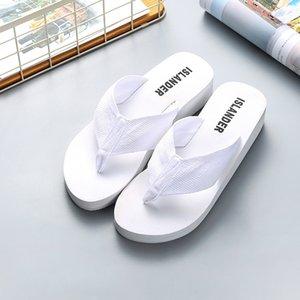 2020 Versão Coreana de fita Lady Slippers Wear EVA flip-flops para Moda Prevenir Slippery Sandals Tamanho 35-40