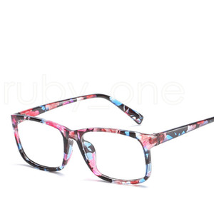 Anti-blue Protection Eyeglasses Computer Eye Glasses Frames Women Men Retro Flat Mirror Eyewear Frame Optical Eyeglasses Tools RRA1144