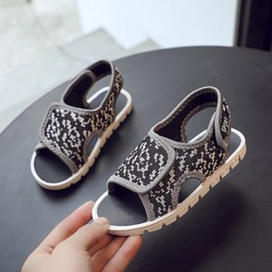 2020 New Children's Sandals Summer Fashion Wild Magic Casual Breathable Soft Mesh Sandals ottom Non-Slip Closed Toe Beach Shoes