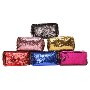 Sequin Cosmetic Bag Makeup Storage Bags Mermaid Handbag Glitter Coin Wallet Zipper Pouch for Women Free Shipping