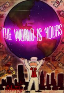 Alec Monopoly « Le monde est à vous » Grand Accrochage Home Décor peint à la main HD Imprimer Peinture à l'huile sur toile pour Living Room 190918