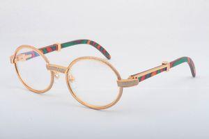 2019 envío gratis gafas de templo de madera de color natural 7550178 gafas de sol de alta calidad marco completo gafas de diamante marco tamaño 55 -22-135mm