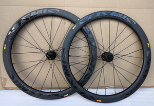 Disk Fren 6 Cıvata Merkezleri 50 Karbon gariplik Borulu cyclocross Tekerlekler Karbon Bisiklet Bisiklet Disk Tekerlekli çiftler