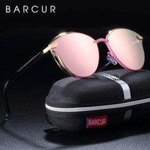 Barcur Luxe Lunettes de soleil Femmes Round polarisants Sun Glassess Ladies De Soleil Femme Lunette Barcur Luxe hmJQX