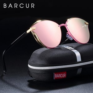hmJQX luxo óculos polarizados Mulheres Round Sun Glassess Ladies Lunette De Soleil Femme Barcur Barcur Luxo