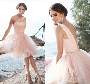 2020 Short Prom Dresses Formal Cocktail Party Dress Evening Gowns Homecoming Dresses Sheer One Neck Graduation Gowns