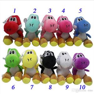 """Super Mario Bros New 7"""" Yoshi juguetes de peluche de dinosaurio Yoshi Los animales de peluche muñeca colgantes Juguetes Figuras 10 colores"""