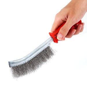 Neuer Ankunfts-Edelstahl-Draht Brushe Rost Reiniger durchsichtiger Kunststoff Griff Eisen-Bürste Handwerkzeug Pinsel Werkzeuge Zubehör Hot