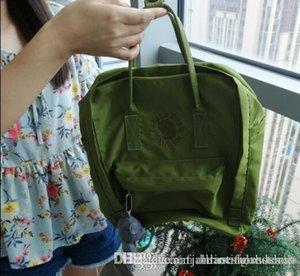 Fjallraven Fjallraven Kanken Студенты Вышитые Холщовые Рюкзаки Avocado Green Student Out Casual