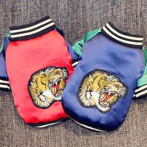 Küçük Köpekler Chihuahua Köpek Kalın Ceket Tiger Nakış Coat Teriyer Kıyafet Köpekler Evcil Giyim T200101 için Pet Köpek Kış Giyim Isınma