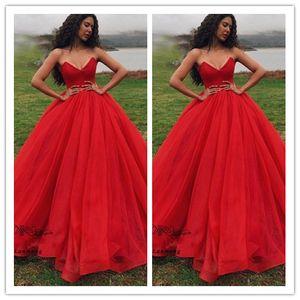 Prinzessin Puffy Red Ballkleid Quinceanera Ballkleider 2020 Vestidos 15 anos bodenlangen Kleid des Bonbon-16
