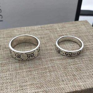 2020 Nouveau produit 925 Bague en argent de haute qualité Couple Bague Mode Hommes Anneau Ensemble de bijoux en gros en vrac