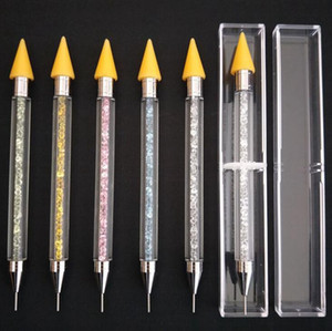 Dual-ended Nail Dotting Pen Crystal Beads Handle Rhinestone Studs Picker Wax Pencil Manicure Nail Art Tool