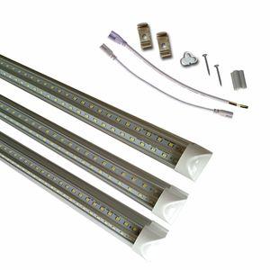T8 8 pies LED tubo giratorio integrado la forma de V de 4 pies 5 pies 6 pies 8 pies refrigerador de la puerta del LED Tubos T8 LED integrada Tubos lados dobles UL