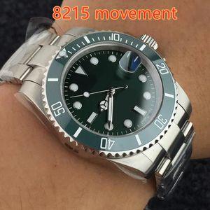 New Hot Herren Automatik 8215 Glide Lock Verschluss Uhren Saphirglas Uhr Keramik Lünette Zifferblatt 116610 Sub Men Sport 116610LN Armbanduhren