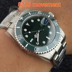 Nuevo Hot Men's Automatic 8215 Glide lock Broche Relojes Reloj de cristal de zafiro Bisel de cerámica Dial 116610 Sub Men Sport 116610LN Relojes de pulsera
