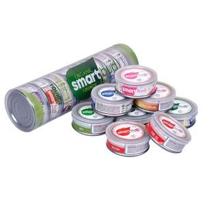 Mais recente adesivos SmartBud Máquina selados latas 3,5 gramas Opções tanque jar erva seca flor de embalagem