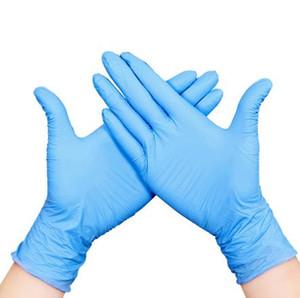 DHL готово к отправке! Премиум синего нитрил экзамен латексных одноразовые перчатки без присыпки (Non Latex) пачка 100 шт нового шаблона перчатки