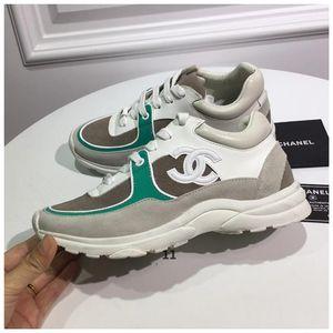 chanel роскошные дизайнерские новые туфли [оригинальная коробка] модные дизайнеры шпильки камуфляж кроссовки обувь Обувь Мужчины, Женщины квартиры Rockrunner тренеры Casua