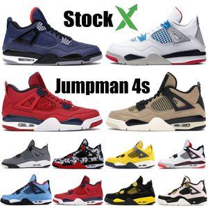 Nike Air Jordon Retro 2019 Cool Grey 4 4s Scarpe da pallacanestro da uomo allevate Cactus Jack Green Grow blu militare Alternate 89 Mens Sports Designer Sneakes 7-13