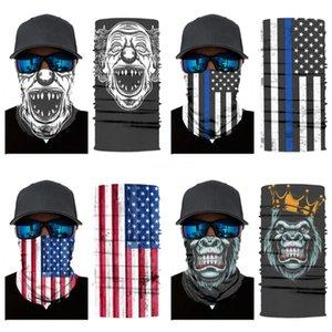 Quality Magic Skull Scarf Bike Motorcycle Helmet Face Mask Half Mask Cs Ski Headwear Neck Cycling Headband Hat Cap Halloween Ma #628#850