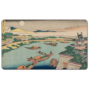 Magic Board Game Playmat:.Moonlight on the Yodo Rive 60*35cm size Table Mat Mousepad Play Matwitch fantasy occult dark female wizard2Trial o