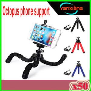 Flexible Tripod Mini Universal Phone Holder Octopus Tripod Supports Cell Phones Digital Camera Stand Tripod Mount Phone Holder 50PCS ZY-ZJ-0