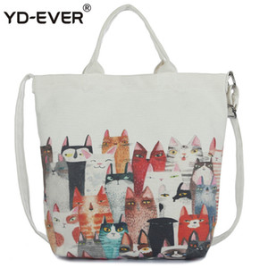 J-Bg pembe karikatür kedi omuz çantası bayanlar büyük kapasiteli kadın alışveriş çantası tuval çanta yaz plaj bayan