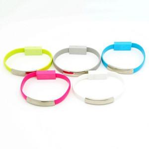La migliore vendita colorato cavo per micro USB Android cavo Wearable Bracciale caricatore di linea di alimentazione Mini Wristband ricarica veloce dei dati di linea per il viaggio