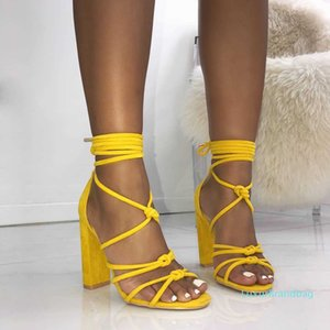 Pretty2019 Cashmere Fan Noodles Crossing Bandage Rome High With Sandals