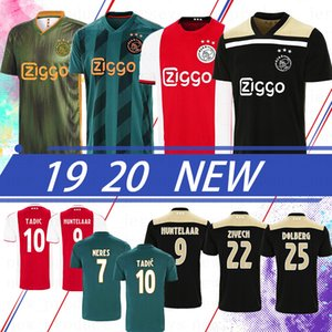 Tailândia Prome Ajax Amsterdam VAN DE BEEK NERES 2020 Soccer Jersey New HUNTELAAR TADIC ZIYECH FUTEBOL CAMISA MEN + KIDS SETS Uniforme